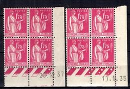 France YT N° 289 Coins Datés 1935 Et 1937 Neufs ** MNH. TB. A Saisir! - Dated Corners