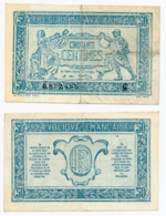 1917 // TRESORERIE AUX ARMEE // 50 Centimes // Série G - Schatkamer