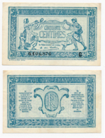 1917 // TRESORERIE AUX ARMEE // 50 Centimes // Série G - Treasury