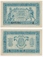 1919 // TRESORERIE AUX ARMEE // 50 Centimes // Série Z - Trésor