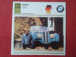 FICHA TÉCNICA DATA TECNICAL SHEET FICHE TECHNIQUE AUTO COCHE CAR VOITURE 1936 1940 BMW 328 GERMANY CARS VER FOTO Y DESCR - Coches