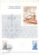 DOCUMENT OFFICIEL 36/75 VOILIER FREGATE LA MELPOMENE - COTE 2009 = 9.00 € - Documents De La Poste