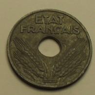 1942 - France - 10 CENTIMES, Etat Français, Zinc, Gd Module, Légère, KM 898.1, Gad 290 - France