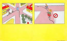 VP-GF.18 -.732 : BUVARD. COURS DE CONDUITE. VELO. CYCLISTE. ENFANT. SECURITE ROUTIERE - Buvards, Protège-cahiers Illustrés