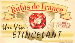 VP-GF.18 -.733 : BUVARD. RUBIS DE FRANCE. LE VIN ETINCELANT. - Buvards, Protège-cahiers Illustrés
