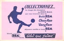 VP-GF.18 -.736 : BUVARD. LES BISCUITS REM DE REIMS. MARNE.  LE FOOTBALL. - Buvards, Protège-cahiers Illustrés