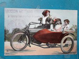 CPA - ITALIE - SPARANISE - Carte Fantaisie Side-car, Enfants - Cachet Mission Militaire Française à Sparanise - Arrondissement: 05