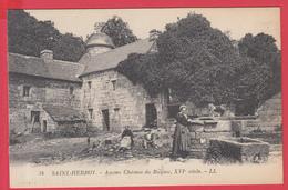 CPA-29-SAINT-HERBOT _Ancien Château De RUSQUEC - Animation* ** 2 SCANS** - France