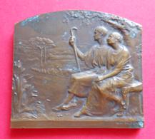 Médaille En Bronze - Immutabilis Amor - Graveur René Baudichon - Professionals / Firms