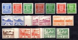 Occupation Allemande Guernesey YT N° 1/5 Neufs * Et Jersey N° 1/8 Neufs ** MNH. TB. A Saisir! - Occupation 1938-45