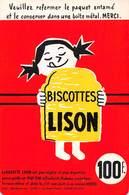 VP-GF.18 -.742 : BUVARD. BISCOTTES LISON. LOMME LEZ LILLE. NORD. - Buvards, Protège-cahiers Illustrés