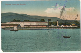 Penang From The Seaside  P. Used To Remedios Cuba Stamp Removed One Corner Damaged - Malaysia