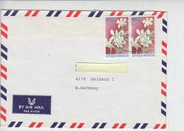 INDONESIA  1988 - Yvert 1146 - Fiori - Lettera Per Germany - Indonesia