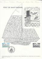 DOCUMENT OFFICIEL 30/75 PONT DE SAINT NAZAIRE - COTE 2009 = 6.00 € - Documents De La Poste