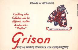 VP-GF.18 -.744 : BUVARD. GRISON PRODUITS POUR CHAUSSURES. CIRAGE. PAPILLON ECAILLE. - Buvards, Protège-cahiers Illustrés