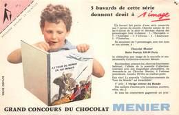VP-GF.18 -.7447 : BUVARD. CHOCOLAT MENIER. LE TOUR DU MONDE EN 120 IMAGES. - Buvards, Protège-cahiers Illustrés