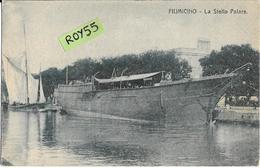 Lazio-fiumicino La Stella Polare Veduta Porto Barcone Anni 20 - Fiumicino