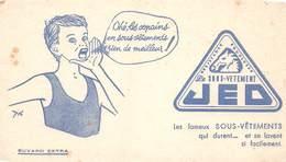 VP-GF.18 -.7450 : BUVARD. LES SOUS VETEMENTS JEO  OU JED - Buvards, Protège-cahiers Illustrés