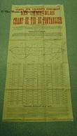 AFFICHE 1927 CHAMP DE TIR PONTARLIER VENTE AUX ENCHERES PUBLIQUES 154 X 75 CM - DOUBS - Affiches