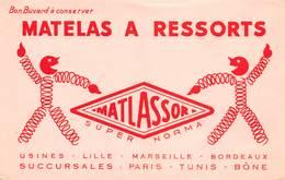VP-GF.18 -.753 : BUVARD. MATELAS A RESSORTS MATLASSOR - Buvards, Protège-cahiers Illustrés