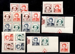 Monaco Timbres Croix-Rouge 1949/1951 Neufs **/*. Bonnes Valeurs. B/TB. A Saisir! - Monaco