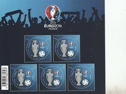FRANCE 2016 BLOC NEUF UEFA  EURO 2016 PERFORATION ETOILE - BF137 - BF 137 - TRES RARE - - Blocs & Feuillets