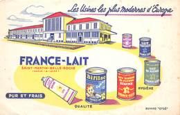 VP-GF.18 -.755 : BUVARD. FRANCE LAIT. LAIT CONCENTRE. LAITERIE. SAINT-MARTIN-BELLE-ROCHE. SAONE ET LOIRE - Buvards, Protège-cahiers Illustrés