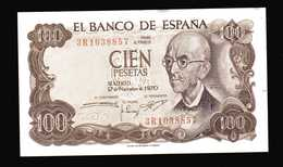 ESPAGNE  Billet De 100 Pesetas   NEUF  17 11 1970 - [ 3] 1936-1975 : Regency Of Franco