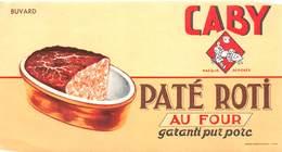 VP-GF.18 -.758 : BUVARD. PATE ROTI PURC PORC. MARQUE CABY - Buvards, Protège-cahiers Illustrés