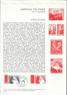 DOCUMENT OFFICIEL 15/75 ARPHILA - COTE 2009 = 9.00 € - Documents Of Postal Services