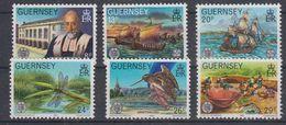 Guernsey 1982 Historical Events 6v ** Mnh (40945F) - Guernsey