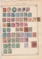 INDE Lot Collection 4 Pages De Timbres Anciens  - Tous états Non Triés - Inde (...-1947)