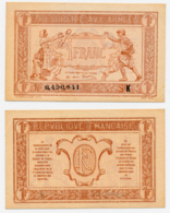 1917 // TRESORERIE AUX ARMEE // Un Franc // Série K - Treasury