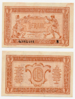 1919 // TRESORERIE AUX ARMEE // Un Franc // Série N - Treasury