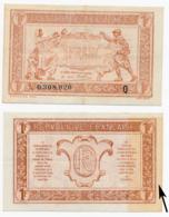 1919 // TRESORERIE AUX ARMEE // Un Franc // Série Q - Treasury