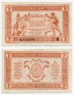 1919 // TRESORERIE AUX ARMEE // Un Franc // Série U - Treasury