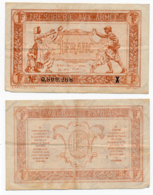 1919 // TRESORERIE AUX ARMEE // Un Franc // Série X - Treasury