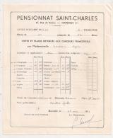 1960  EXTERNAT SAINT MICHEL MARSEILLE BULLETIN TRIMESTRIEL     B298 - Diplômes & Bulletins Scolaires