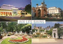 CPM . AIX-LES-BAINS . MULTIVUES ECRITE AU VERSO - Aix Les Bains