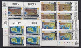 Europa Cept 1982 Jersey 4v Bl Of 4 (corners) ** Mnh (40945H) - Europa-CEPT
