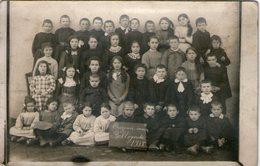 45-ouzouer Sous Bellegarde-carte Photo De Classe 1918 - Ouzouer Sur Loire