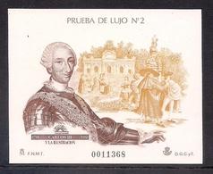 ESPAÑA 1988 - PRUEBA CARLOS III Y LA ILUSTRACION - EDIFIL Nº 17 - 1931-Hoy: 2ª República - ... Juan Carlos I