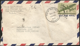 J) 1946 UNITED STATES, AIRPLANE, CRIPPLED CHILDREN, AIRMAIL, CIRCULATED COVER, FROM USA TO MEXICO - Brieven En Documenten
