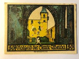 Allemagne Notgeld Weida 50 Pfennig - [ 3] 1918-1933 : République De Weimar