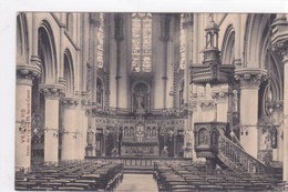 """VERVIERS  """"Eglise Des Jésuites , Rue De Rome - Intérieur    """" Circulée En 1912  DEMOLIE (voir Scans ) - Verviers"""