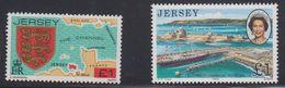 Jersey Definitives GBP 1 Value 2x ** Mnh (40945H) - Jersey