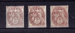 N*  108/108a/108b NEUF** - 1900-29 Blanc