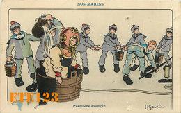 12 CARTES Dessinées - Lot - ILLUSTRATEUR H. GERVÈSE - THÈME  - NOS MARINS - Plongée - Marine - Vaguemestre - Carte - Gervese, H.