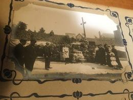 50 GRANVILLE CARTE PHOTO CALVAIRE CEREMONIE MAUFRAS HORTICULTURE - Granville
