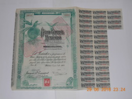 ACTION BANCO CENTRAL MEXICANO - 1908 - Bank & Insurance